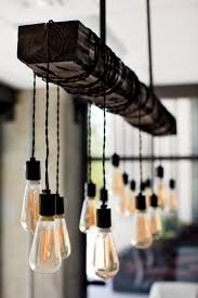 edison bulb chandelier in this new conference room turner
