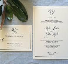 wedding invitations simple sle framed monogram wedding invitation featuring simple border