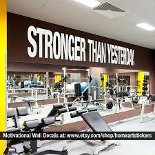 home gym wall decor home gym wall decor stronger than yesterday quote sports decals gym