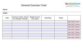weekly workout schedule template template design