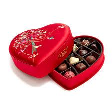 heart chocolate s day fabric heart chocolate gift box 14 pc godiva