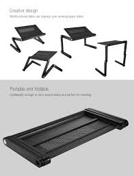 Bed Desk For Laptop by Omax K6 Portable Laptop Desk Folding Table Vented Stand 32 89
