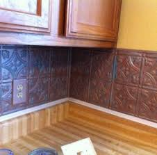 faux tin kitchen backsplash interior metal backsplash rubberd bronze panel kitchen metal
