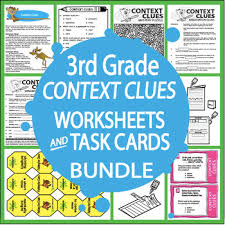 context clues activities and task cards bundle 15 context clues