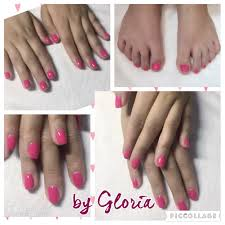 soak off gel manicure u0026 pedicure bright pink soak off softgel