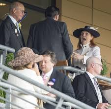 fergie is excited to greet the at royal ascot daily mail