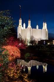 mormon temple lights decoration washington