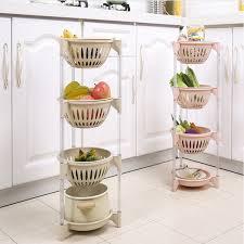vegetable storage kitchen cabinets simplicity multilayer modern creative fruit vegetable storage basket kitchen floor stand storage rack beige purple blue pink wish