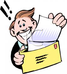 royalty free clip image happy getting a letter with news