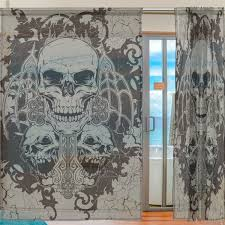 window curtains awesome skulls
