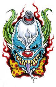 evil clown tattoo flash pictures to pin on pinterest tattooskid