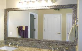bathrooms design antique frameless mirrors awesome large