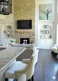 Built In Bookshelves Fireplace by Best 25 Tall Fireplace Ideas On Pinterest Two Story Fireplace