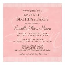7th birthday party invitation wording drevio invitations design