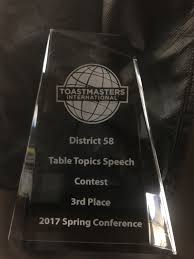 Table Topics Toastmasters My Journey To The Toastmasters District 58 Table Topics Contest