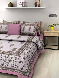 Buy Double Bed Sheets Online India Buy Uniqchoice Jaipuri Print 100 Cotton Rajasthani Tradition King