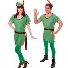 Robin Halloween Costume Men Ladies Mens Peter Pan Robin Hood Elf Fancy Dress Costume