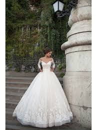backless wedding dresses gown 3 4 sleeves lace the shoulder backless wedding dresses