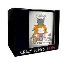 personalised crazy cat lady mug crazy tony u0027s crazy cat lady gift