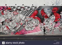 street art mural manhattan stock photos street art mural public art mural by how and nosm on the bowery mural wall on houston street