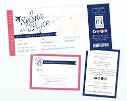 boarding pass invitations template trip invitation template