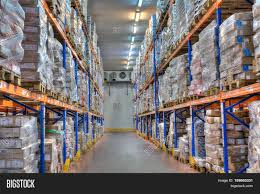 Warehouse Interior by Saint Petersburg Russia October 31 2016 Shelves And Racks In