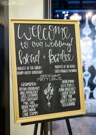 black and gold chalk board seating chart and welcome sign modern