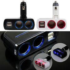 Multi Socket Car Charger With Usb Port Usb Cigarette Lighter Ebay