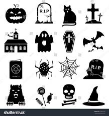 halloween icon set stock vector 215831257 shutterstock