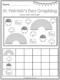 free st patrick u0027s day literacy and math printables kindergarten