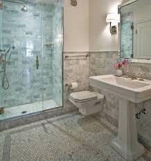 carrara marble bathroom designs carrara marble hexagon tile transitional bathroom farinelli