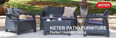 keter corfu resin armchair with cushions all weather plastic
