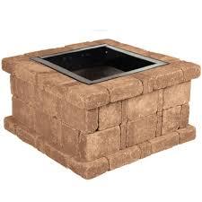 Square 1099 by Pavestone Rumblestone 38 5 In X 21 In Square Concrete Fire Pit