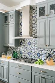 kitchen adorable backsplash cobalt blue glass tile peel and