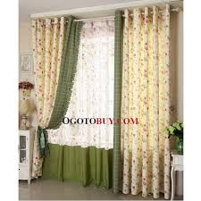 Curtain For Girls Room Poly Cotton Blend Beautiful Printed Floral Room Darkening Curtain