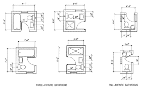plumbing layout for a bathroom