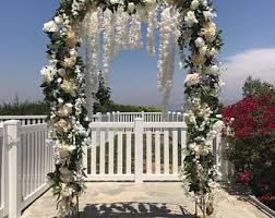 wedding arches okc wedding arch flower etsy