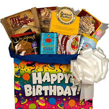 birthday baskets birthday snack gift basket