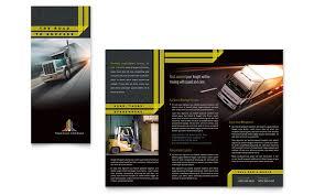 trucking u0026 transport tri fold brochure template word u0026 publisher