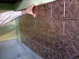 tin tile back splash copper backsplashes for kitchens how to install a copper backsplash how tos diy copper tiles for