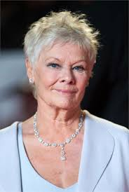 judi dench hairstyle front and back of head judi dench bond skyfall premiere