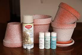 Krylon Textured Spray Paint - my distressed painted flower pot diy u2014 april bern