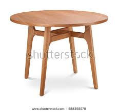 light wood round dining table brown light brown wooden round dining stock photo royalty free
