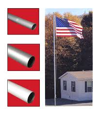 Flagpole Christmas Tree Kit White by Flagpole Replacement Sections For Sectional Flagpoles