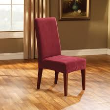 Amazoncom Sure Fit Stretch Pique Shorty Dining Room Chair - Short dining room chair covers