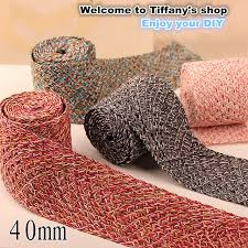 ribbons for sale hot sale 40mm wide 1meter lot south korea 6color ribbon woven wool