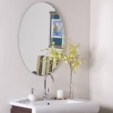 egg shaped frameless wall mirror by decor wonderland in frameless