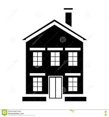 cute little house with chimney icon simple style stock vector