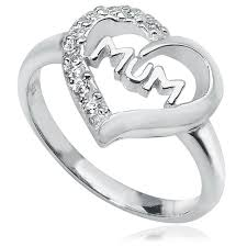 rings sterling silver images Mum ring heart cubic zirconia 925 sterling silver jpg