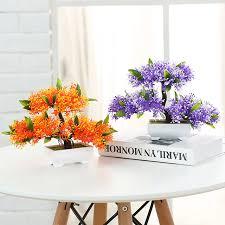 artificial plants vase set simulation flower pine tree small bonsai
